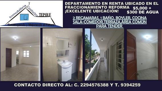 Departamento Recién Remodelado , Fraccionamiento Reforma