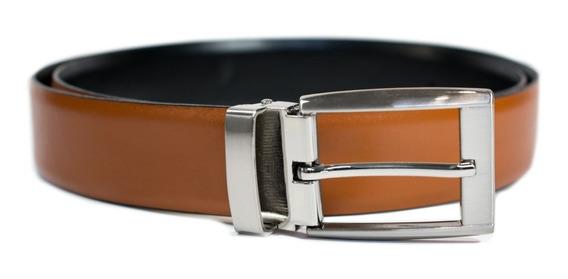 Cinturon Doble Vista Cuero Hombre Piel Fajo Belt 34