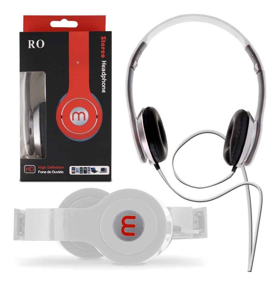 Headset Ro Stereo High Definition P2 Android Ios Branco