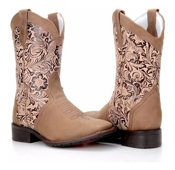 Bota Feminina Country Texana Montaria Capelli Boots 5600