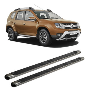 Estribo Lateral Duster Oroch Grafite Onix Cinza Oval Renault
