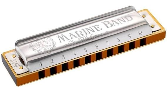 Gaita De Boca Diatônica Hohner Marine Band C/ Estojo ( Eb )