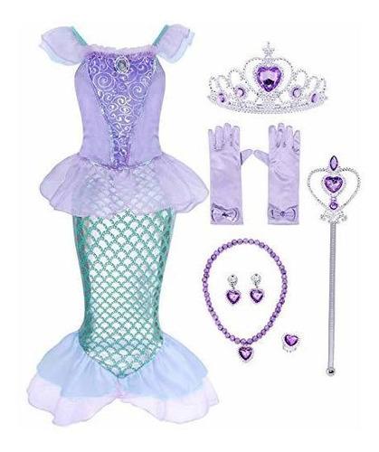 Disfraz De Sirenita De Princesa Ariel De Henzworld Disfraz D