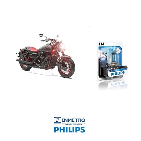 Lâmpada Moto Philips H4 P/ Kawasaki Vulcan 1600 Efeito-xenon
