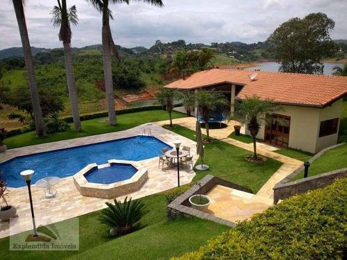 Chácara Com 5 Dormitórios À Venda, 890 M² Por R$ 3.000.000,00 - Centro - Biritiba Mirim/sp - Ch0001