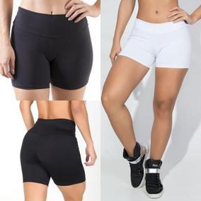 Short Fitness Feminino Curto Alta Roupa De Academia + Brinde