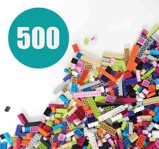 Ladrillos Para La Construcción Colores Pastel 500 Piezas!