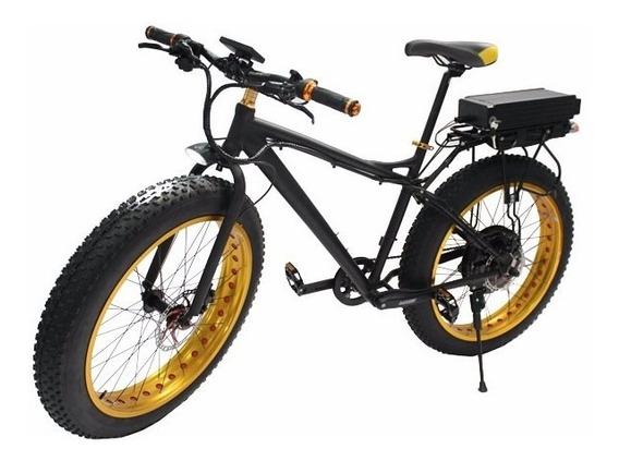 Bicicleta Eléctrica 1000w Ecobici Batería Llanta Gruesa