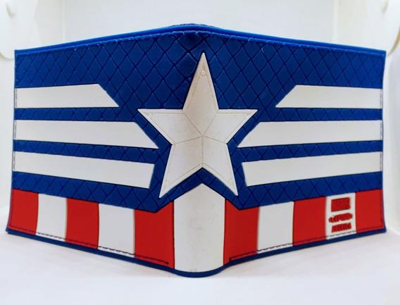 Billetera Capitan America - Marvel - Purpura Funnyland
