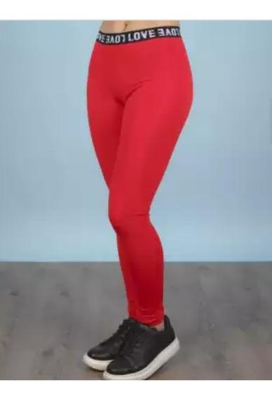 Calzas De Tricotina Roja O Negro Talle S/m