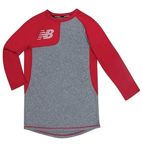 New Balance Playera Juvenil Beisbol Manga Larga Xl (18-20)