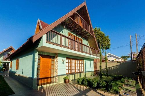 Imagem 1 de 21 de Casa Com 4 Dormitórios À Venda, 250 M² Por R$ 850.000,00 - Jardim Pedro Demeterco - Pinhais/pr - Ca0173