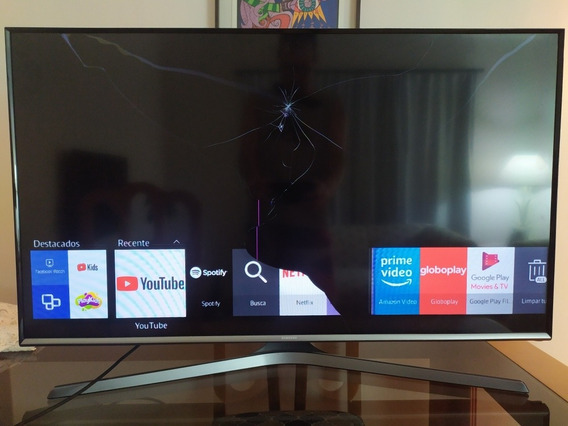 Tv Samsung Led 40 Smartv Tela Quebrada