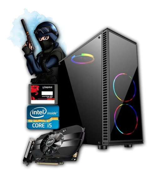 Pc Gamer Core I5 + Gtx 1060 6gb + 8gb Ddr3 + Ssd 120gb