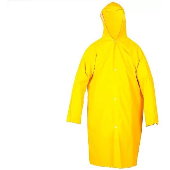 Capa De Chuva Forrada Amarela Tamanho G
