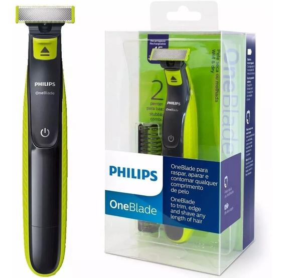Barbeador Elétrico Philips One Blade Á Prova Água Qp2521/10