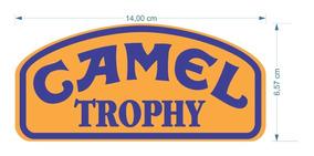 Adesivo Vinil Camel Trophy Carro Off Road Duas Camadas 2pcs