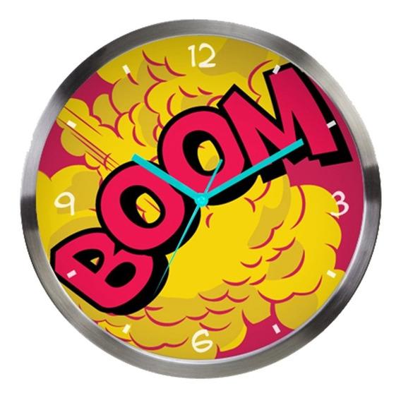 Relógio De Parede De Metal - Dc Comics - Boom - Colorido - 3