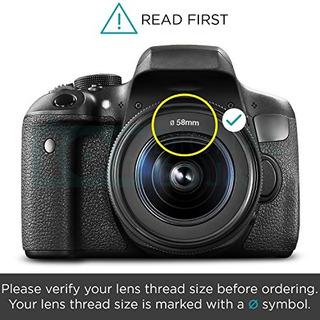 Camara Digital Altura Photo 58mm Lens Hood Set.