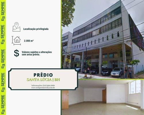 Imagem 1 de 17 de Prédio Para Alugar, 2.000 M² - Santa Lúcia - Belo Horizonte/mg - Pr0014