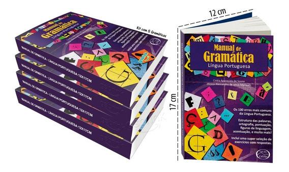 Kit 5 Gramática Língua Portuguesa 12x17cm (atualizada)