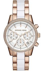 Relógio Michael Kors Feminino Ritz Cronógrafo Mk6324/5bn