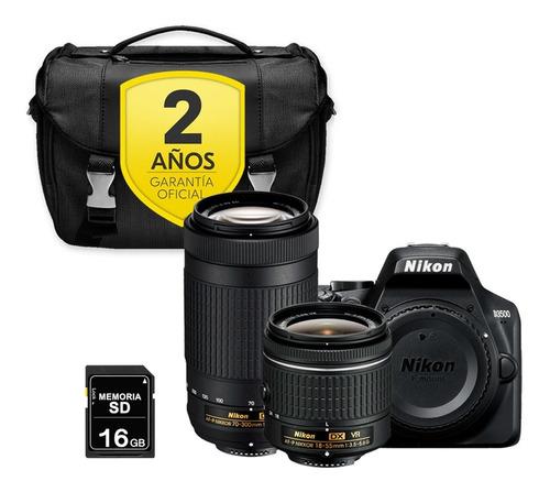Cámara Nikon D3500 Con 18-55 + 70-300 + Sd 16gb + Maletín