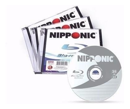 50 Blu-ray Bdr Gravável 25gb Nipponic 6x Pc Com 50 Unidades