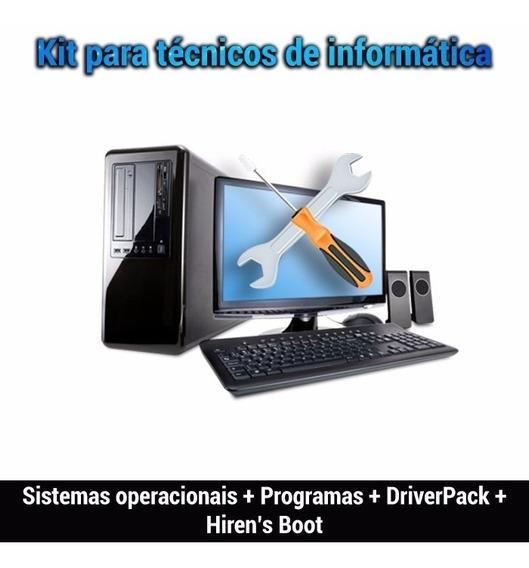 Kit Com 9 Dvds Para Formatação - Windows 10,8.1,7,office
