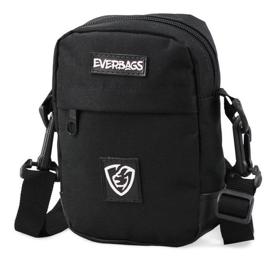 Bolsa Pochet Necessaire Shoulderbag Everbags Combate Preto