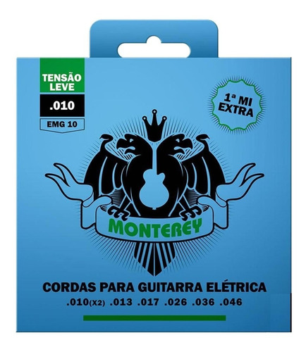 Imagem 1 de 3 de Encordoamento Para Guitarra Solez Monterey 010 Emg10