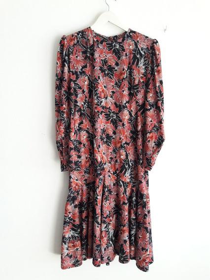 Vestido Vintage Floreado Talle Xl