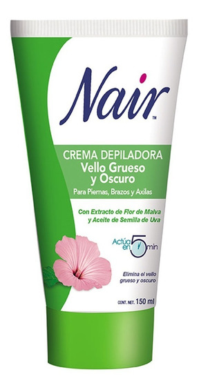 Crema Depiladora Vello Grueso Y Oscuro Flor Malva 150ml Nair