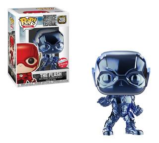 Funko Pop Justice League Light Blue Chrome Flash Exclusive