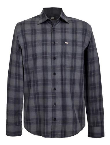 Camisa Casual Lee Hombre Manga Larga H05
