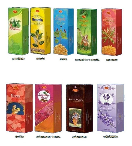 Sahumerios Sree Vani India Pack X 6