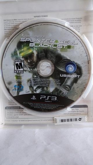 Jogo Ps3 Splinter Cell Blacklist Envio Cr