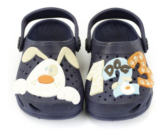 Babuche Plugt Ventor Baby Cachorro - Marinho