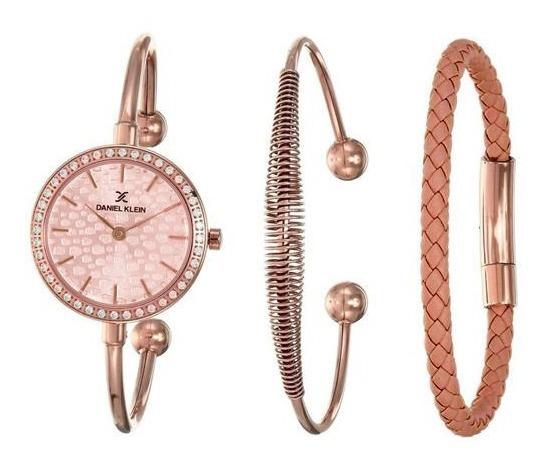 Relógio Analógico Daniel Klein Gift Set Dk12100-4 + Pulseira