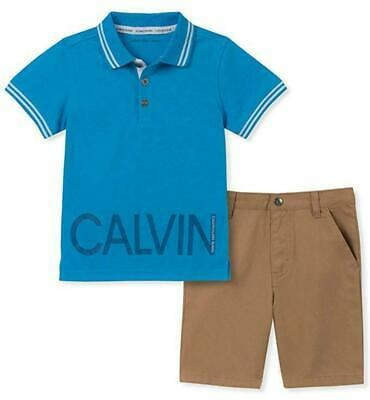 Set 2pz Camisa Y Short Calvin Klein Niño Talla 7