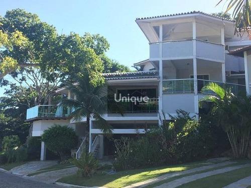 Casa Com 5 Dormitórios À Venda, 400 M² Por R$ 2.800.000,00 - Geribá - Armação Dos Búzios/rj - Ca0277