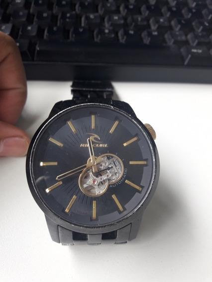 Relógio Da Rio Curl Preto E Dourado Automático