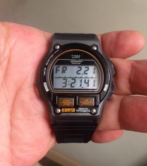 Primeiro Relógio Timex Ironman Triathlon 8 Lap 1984 Light