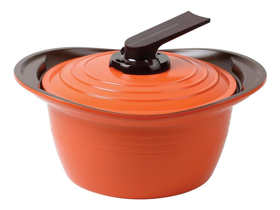 Olla Roichen Con Asas De Silicona 24 Cm Naranjo Premium