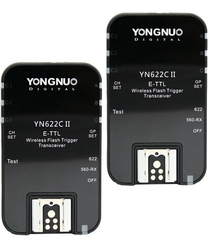 2 Radios Yongnuo Yn-622 C Version Ii Ttl P/ Canon + 6 Cuotas