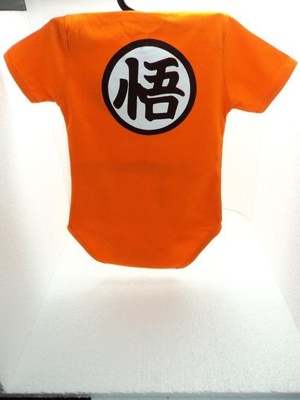 Body Algodão Son Goku Dragon Ball Z Infantil Bebê P, M E G