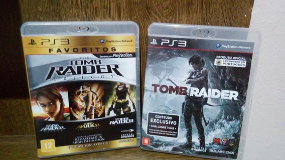 Coleção Jogo Tomb Raider Trilogy E Tomb Raider 2013 Ps3