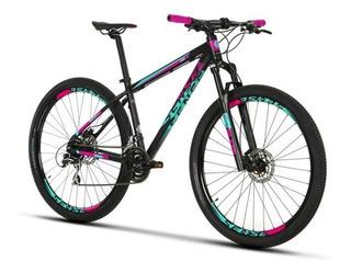 Bicicleta Mtb Sense 29x19 Fun 2019 24v Acera Rosa Com Azul