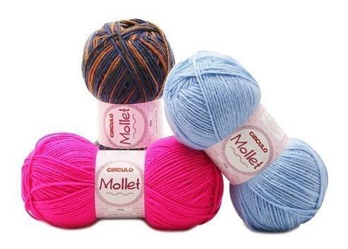 Lã Mollet Círculo 100g - Kit 15 Unidades