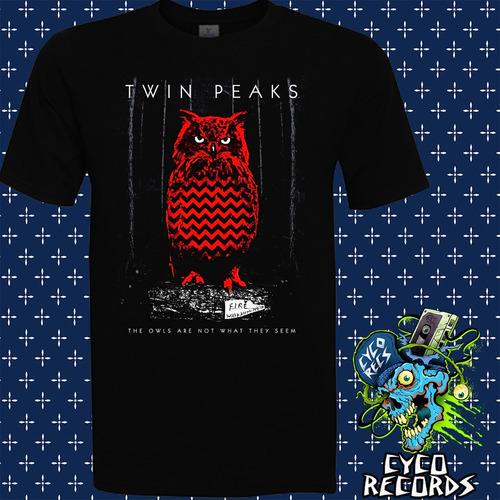 Imagen 1 de 2 de Twin Peaks - Red Owl - Peliculas De Culto - Polera- Cyco Rec